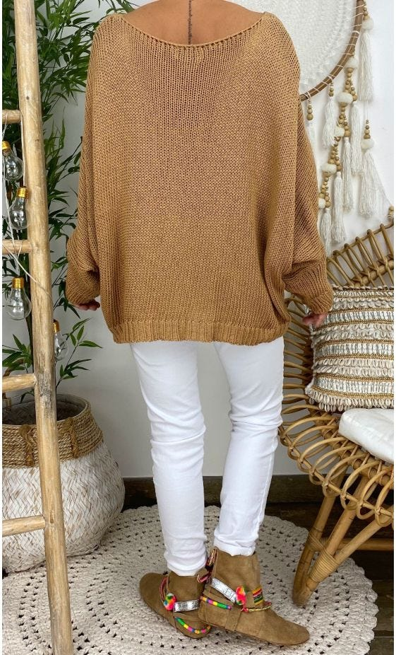 Pull Lehyan Petite Maille Camel