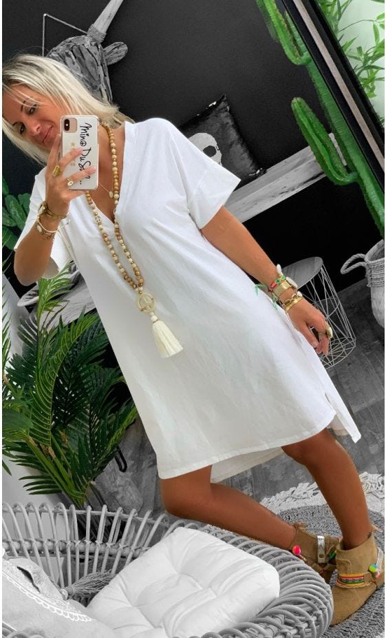Petite Robe Perla MC Ultra-Light Blanc