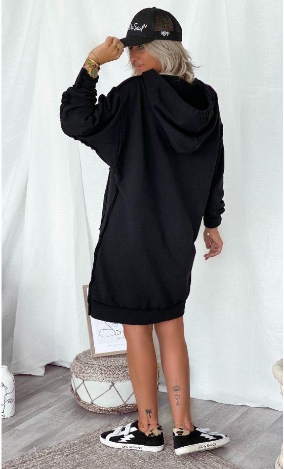 Petite Robe Lorna Sweat Noir