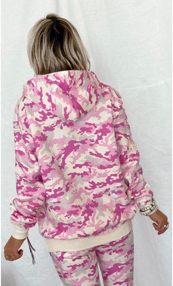 Sweat Lenny Rose Camouflage MinoDusud Blanc