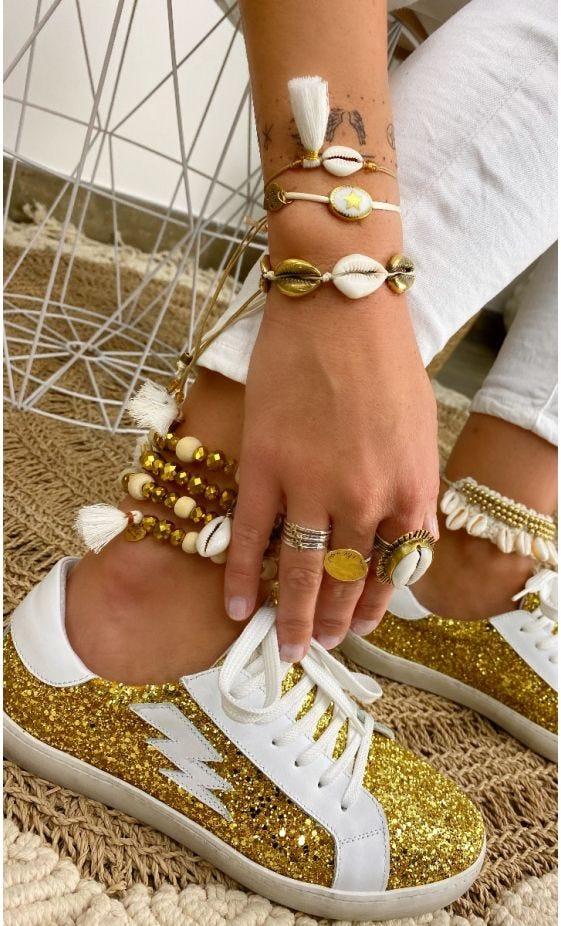 Bracelet Adem Blanc Cassé