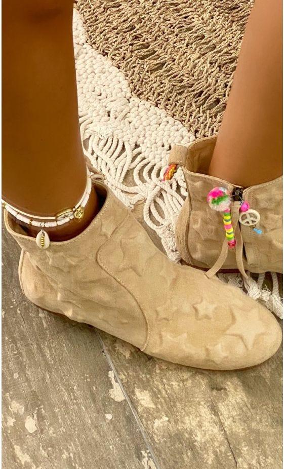 Boots Alaya Beige Star