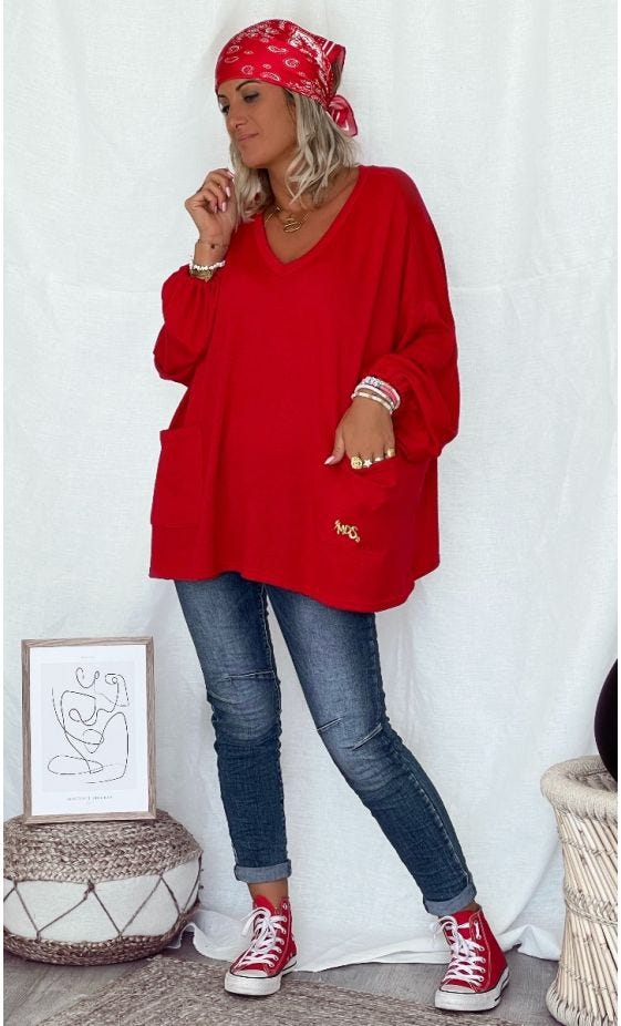 Pull Anthony Maille Doudou Rouge