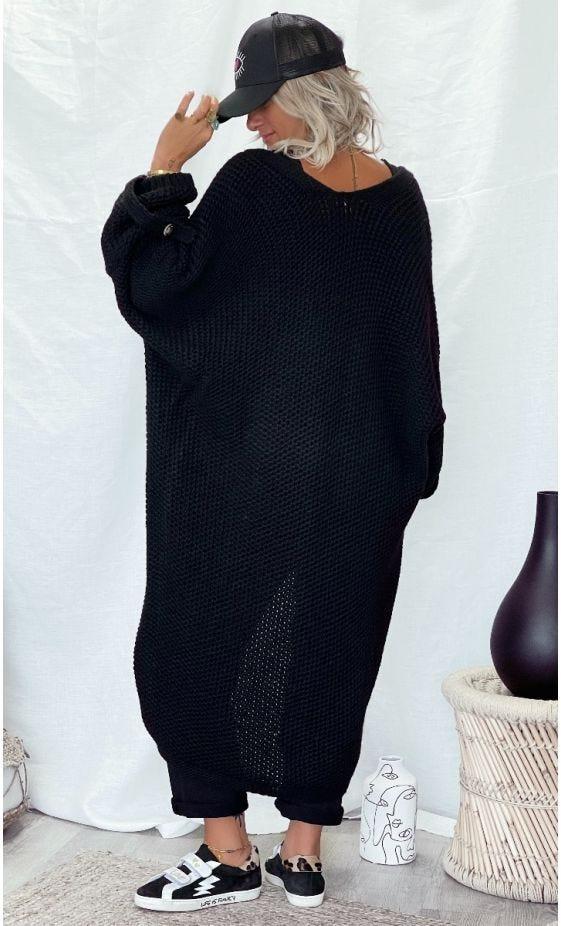 Gilet Long Sebastian Oversize Noir