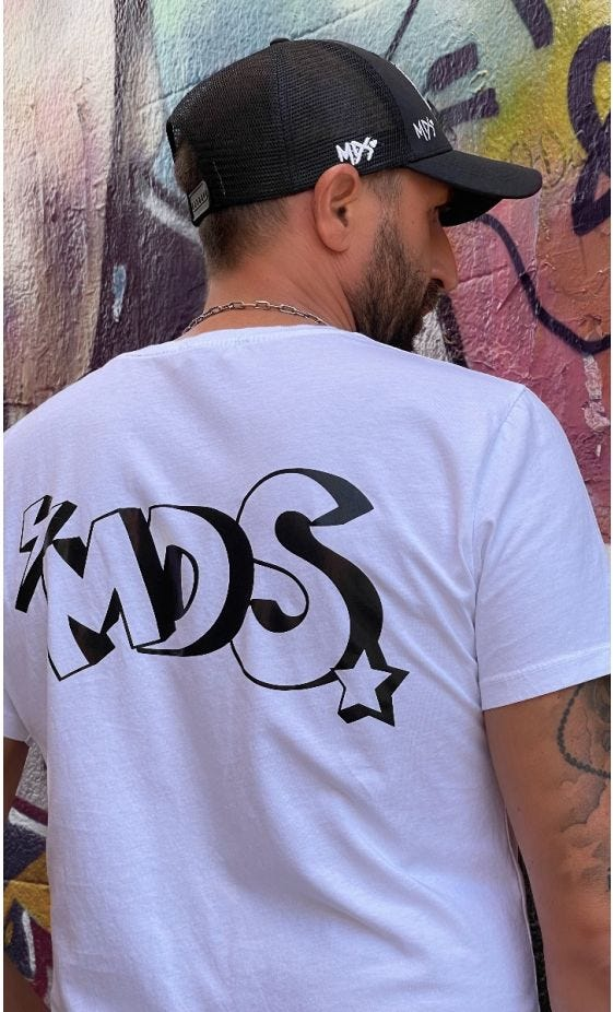 T-Shirt Mayron Blanc MDS Noir