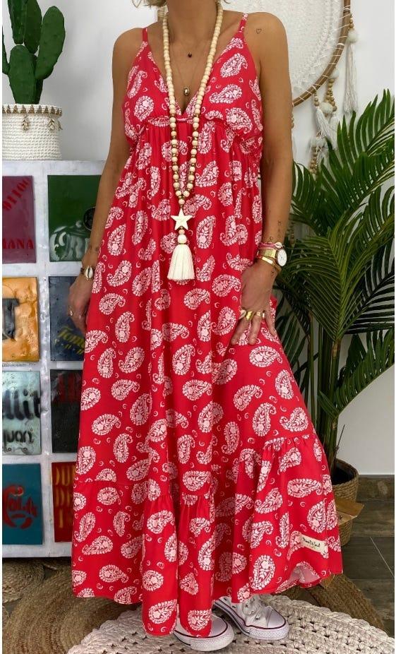 Robe Aure Rouge Little Cachemire