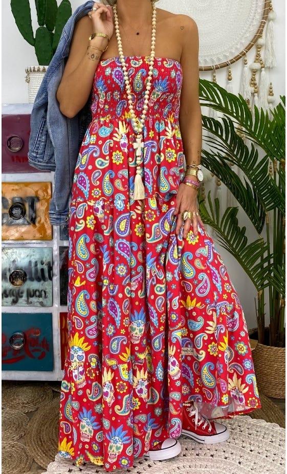 Robe Juliana Rouge Fiesta
