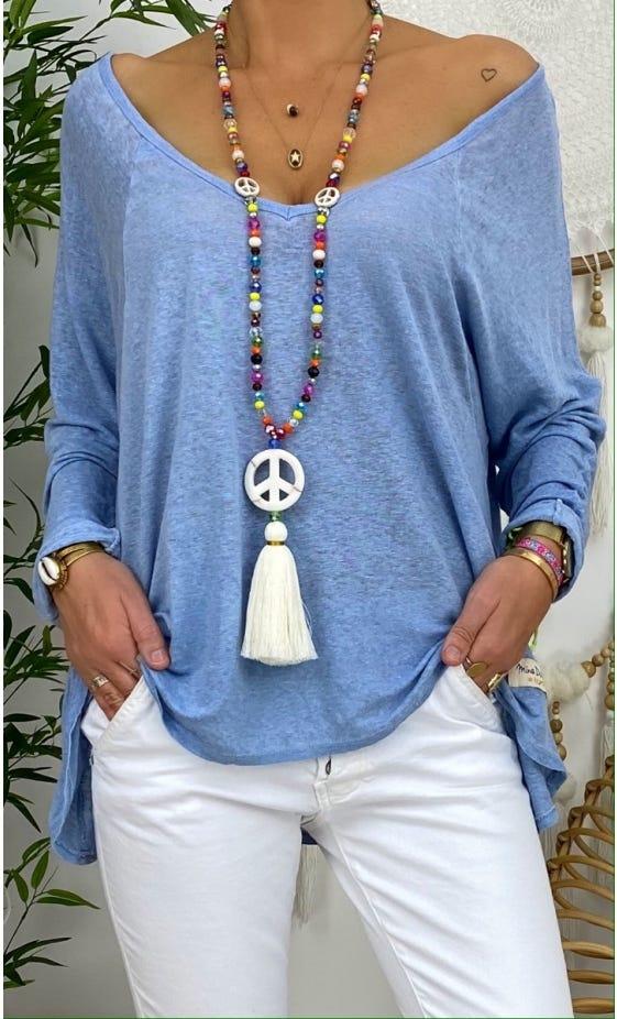 T-Shirt Lou Bleu Jean
