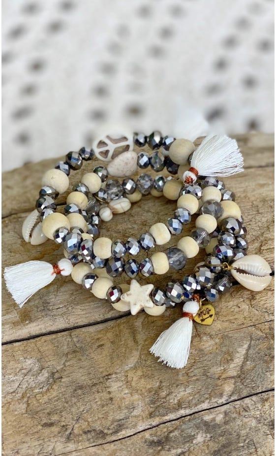 Bracelet De Cheville Magik Glitter Argent