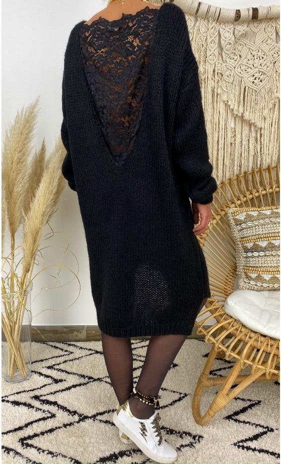 Petite Robe Pull Lisy Noir