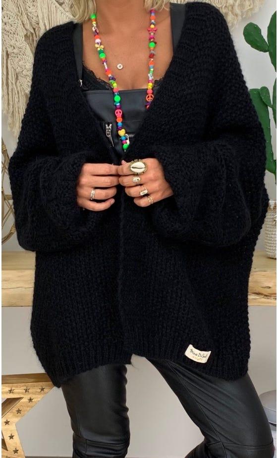 Gilet Malone Oversize Noir