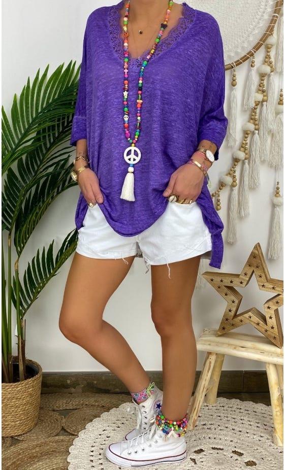 T-Shirt Jordan Oversize Violet