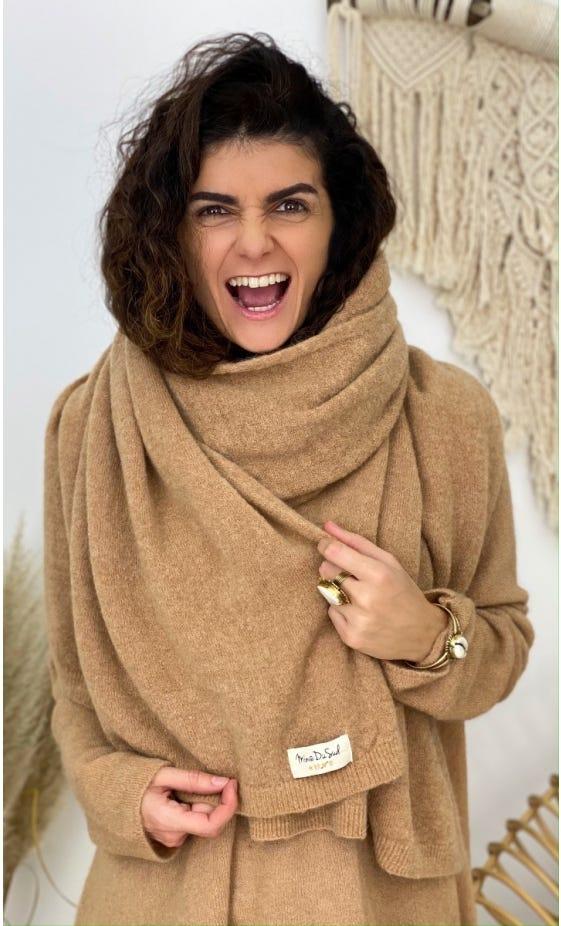 Echarpe Paola Camel