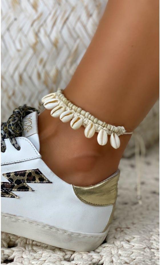 Bracelet De Cheville Kaili Beige