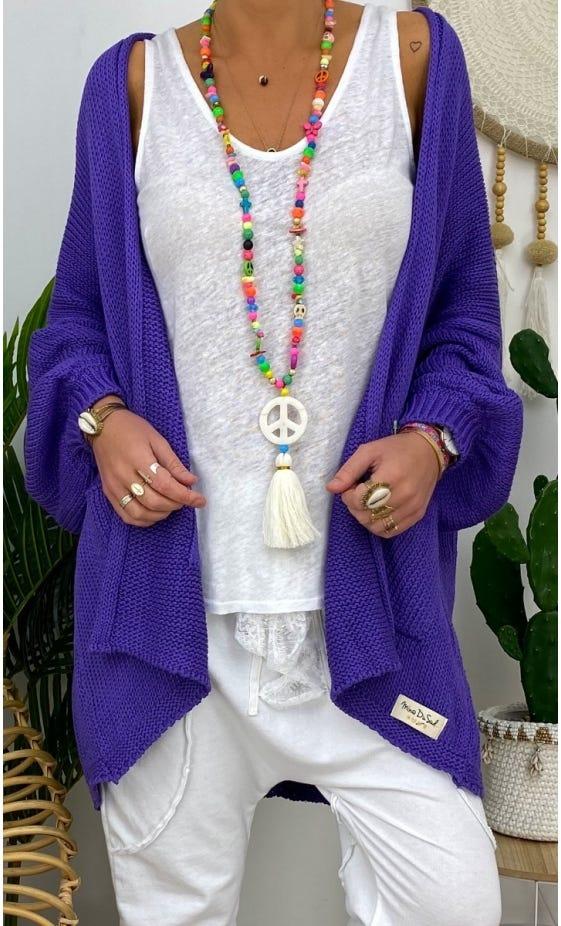 Gilet Paul Petite Maille Violet