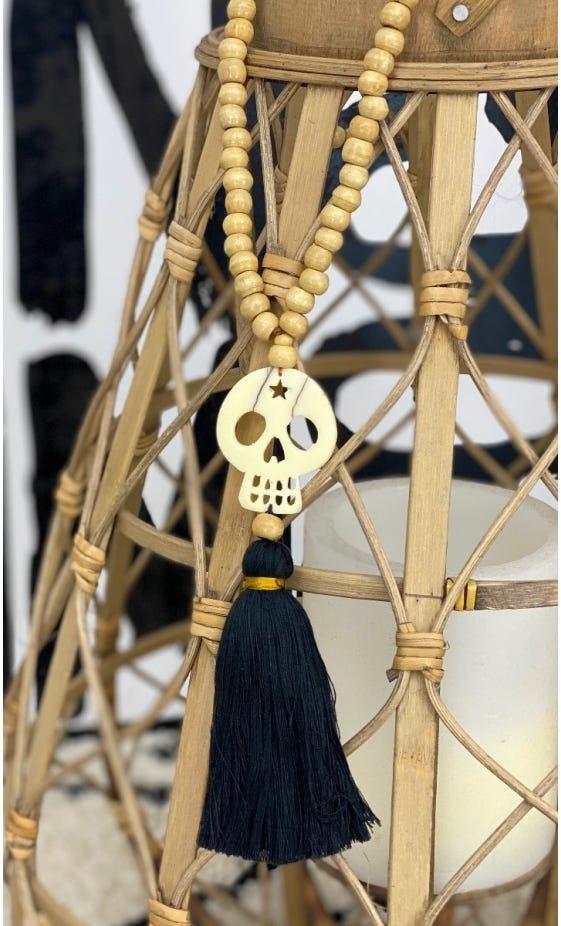 Sautoir Kewan Noir Skull