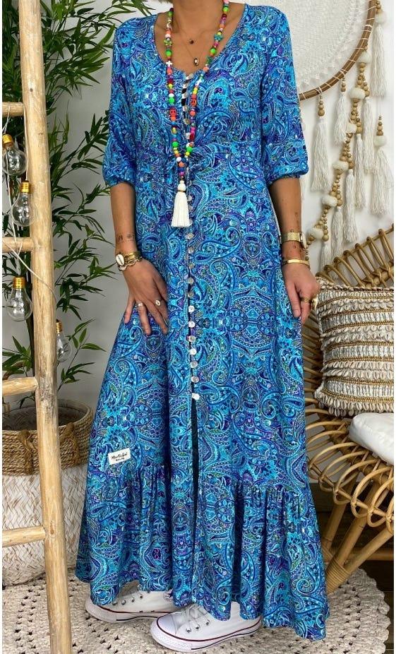 Robe Lola Bleu Turquoise Keema