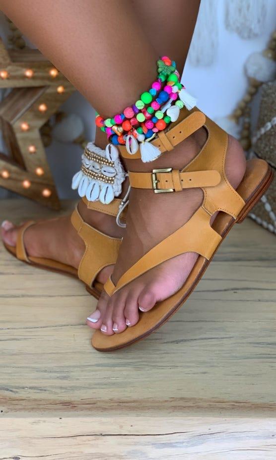 Sandales Luce Camel