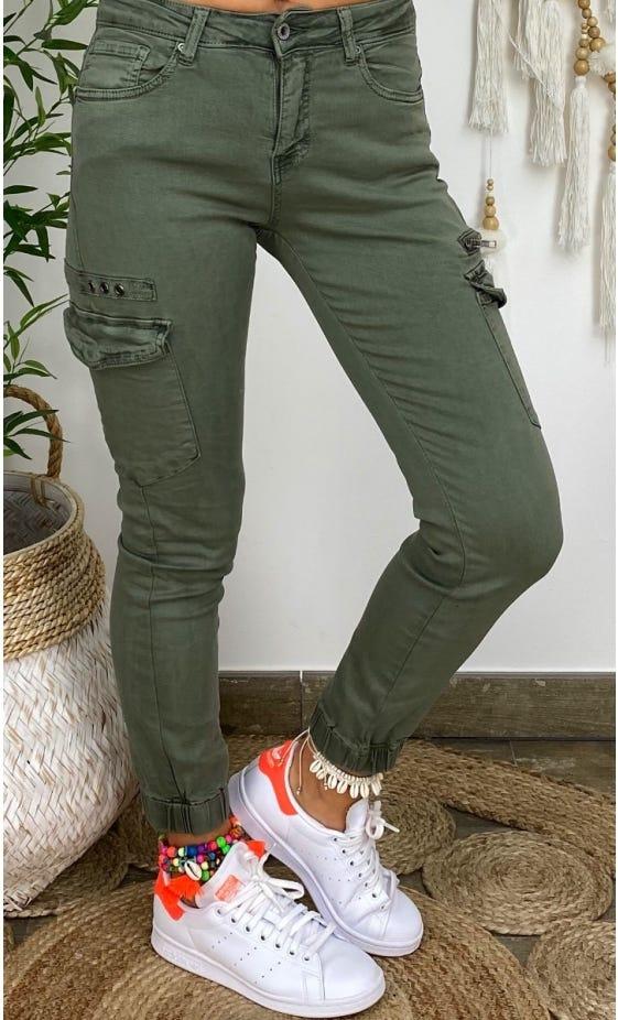 Pantalon Slim Cargo Miguel Kaki