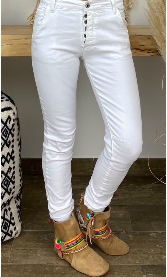 Pantalon Slim Julien Blanc