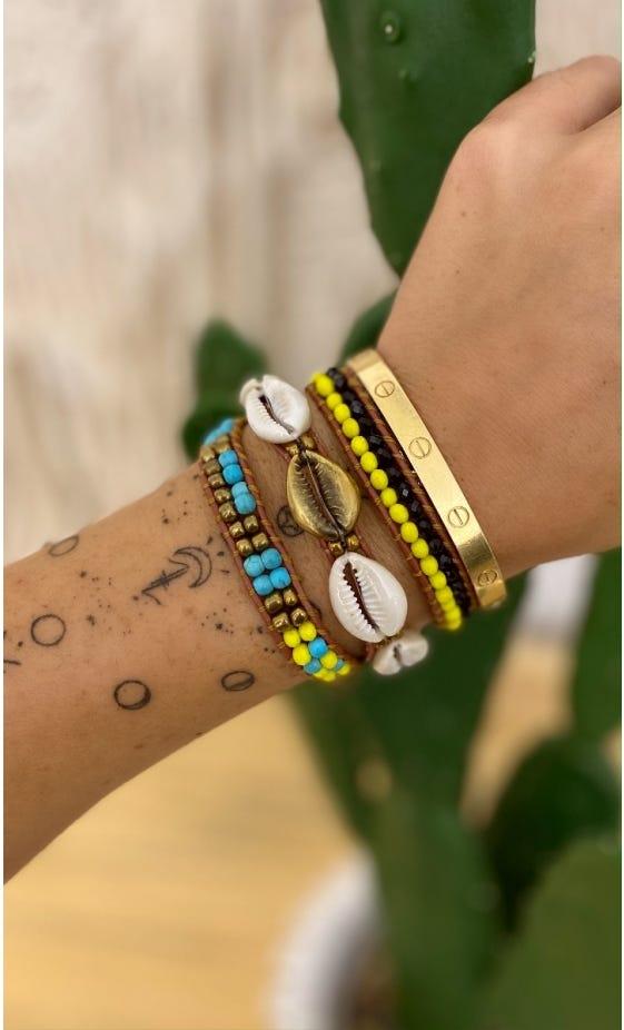 Bracelet Indra Multicolor Jaune