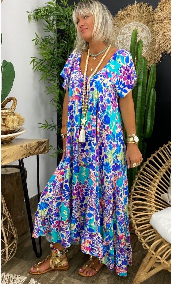 Robe Tess Bleu Spring