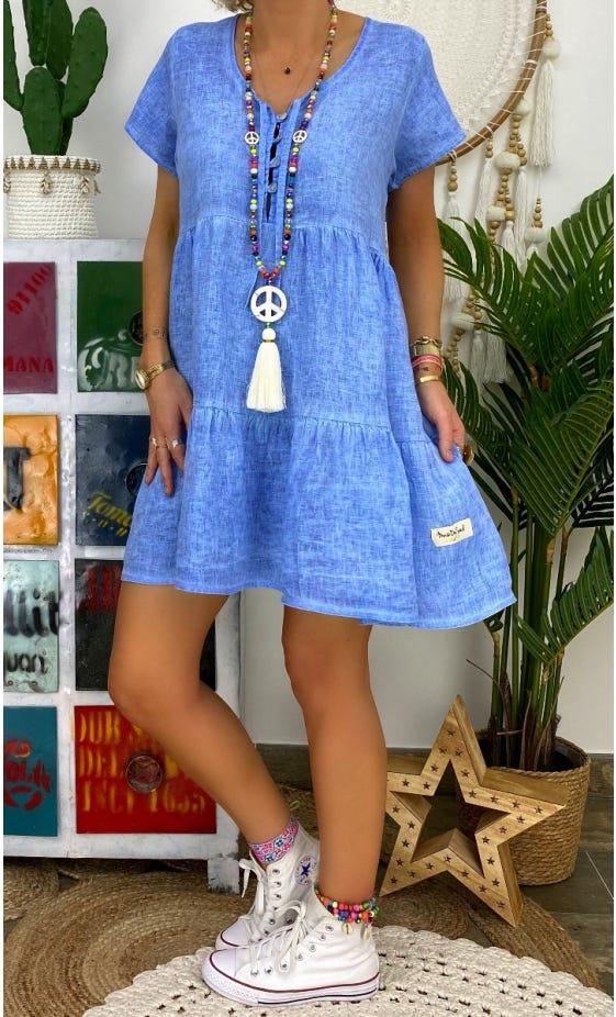 Petite Robe Kara Lin Bleu Jean
