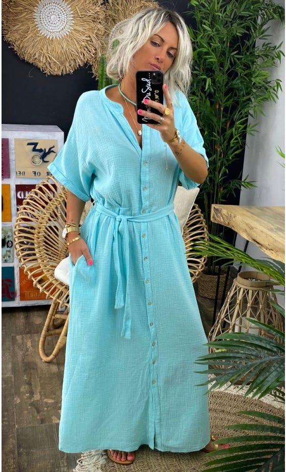 Robe Agathe Vert Turquoise