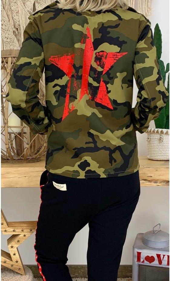 Veste Thais Kaki Camouflage Star Rouge