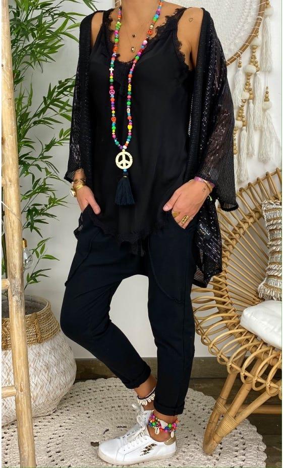 Gilet Jonah Sequins Noir