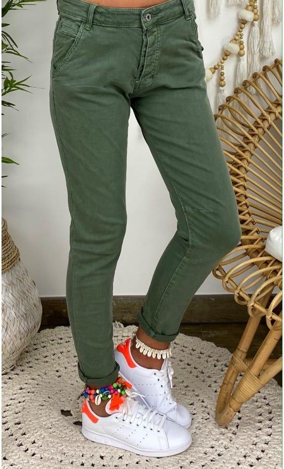 Pantalon Slim Julien Kaki