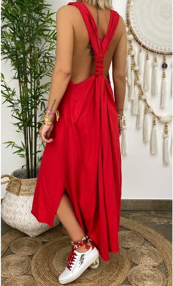 Robe Jasmine Rouge