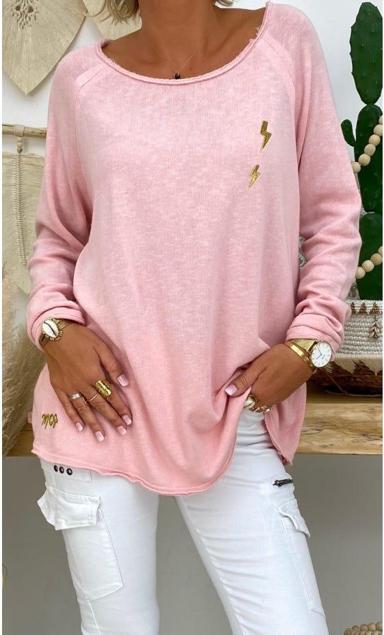 T-Shirt Isma Rose Clair Little Flash Or