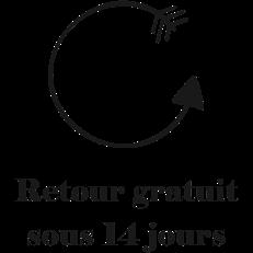 RETOURS GRATUITS SOUS 14 JOURS