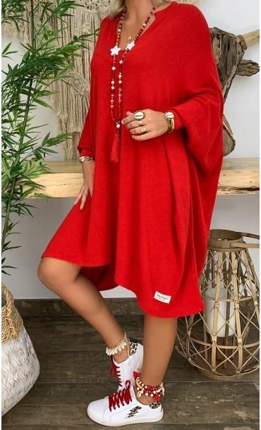 Petite Robe Pull Mateï Rouge