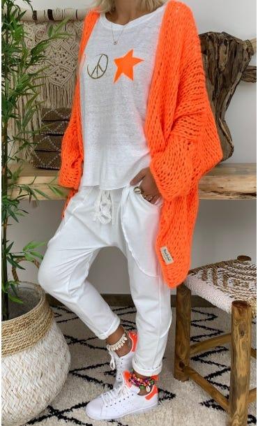 Gilet Dany Oversize Orange Fluo