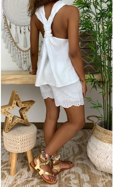 Tunique Jasmine Blanc