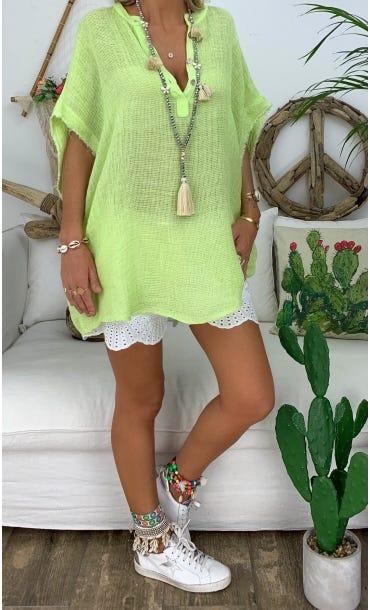 Tunique Asma Vert Anis