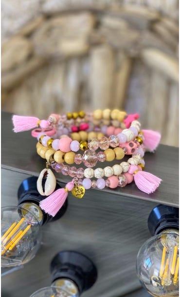 Bracelet De Cheville Magik Twinkle Wood Rose