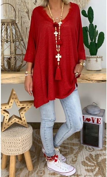 T-Shirt Oversize Jordan Rouge