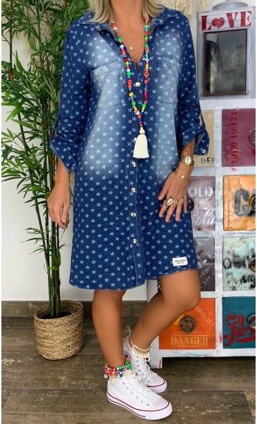 Petite Robe Chemise Alia Jean's Brut Etoile