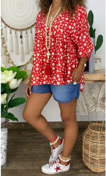 Tunique Lucia Rouge Daisy