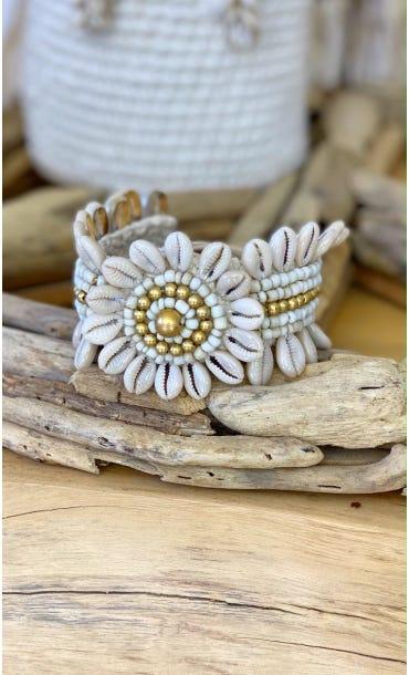 Bracelet De Cheville Busaba Beige