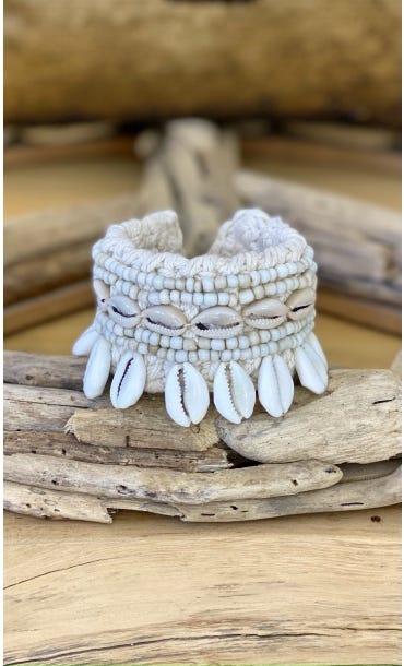 Bracelet De Cheville Ekeka Beige