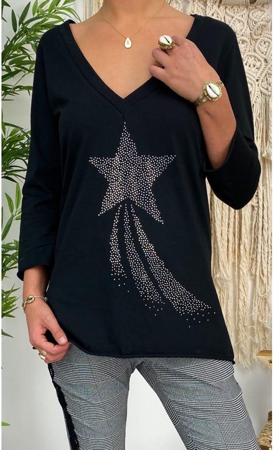 T-Shirt Elio ML Noir Shooting Star