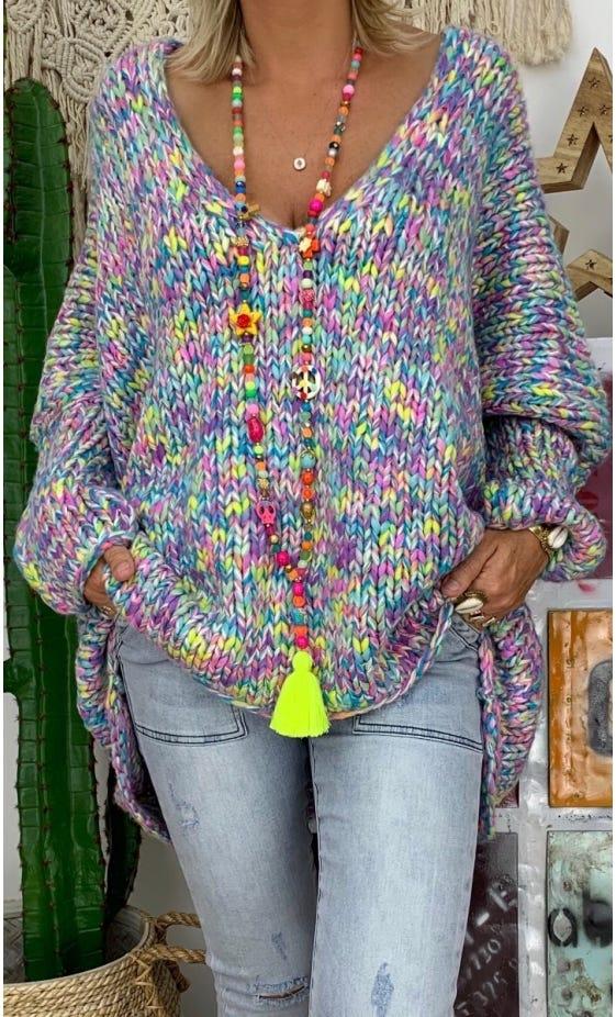 Sautoir Tagada Multicolor Jaune Fluo