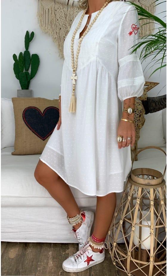 Petite Robe Flavie Blanc Cassé
