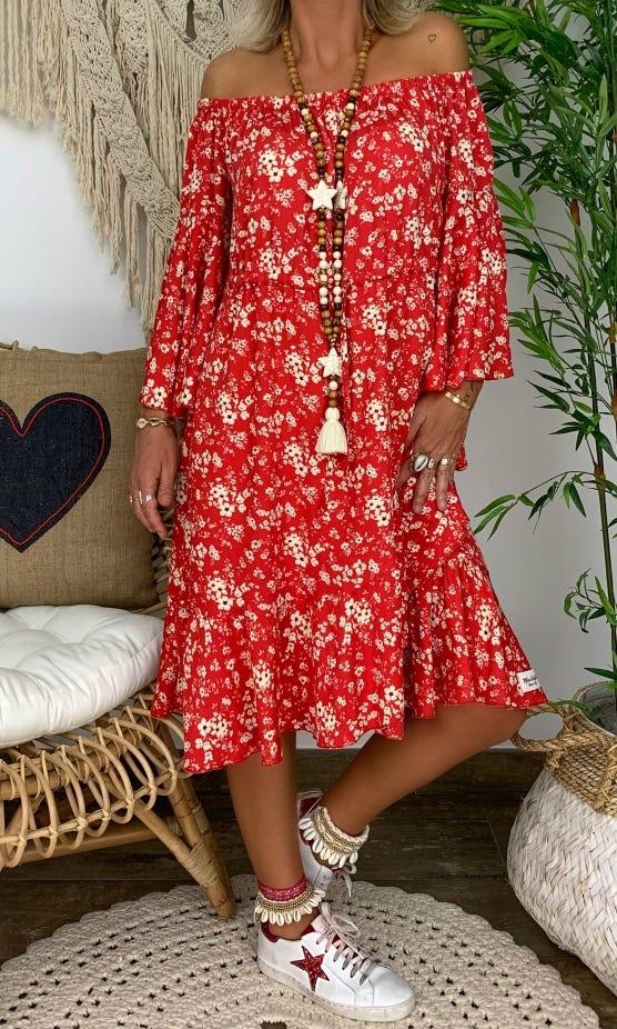 Petite Robe Kelliana Rouge Wildflowers