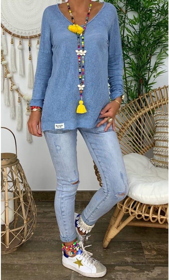 T-Shirt Mylan Bleu Jean
