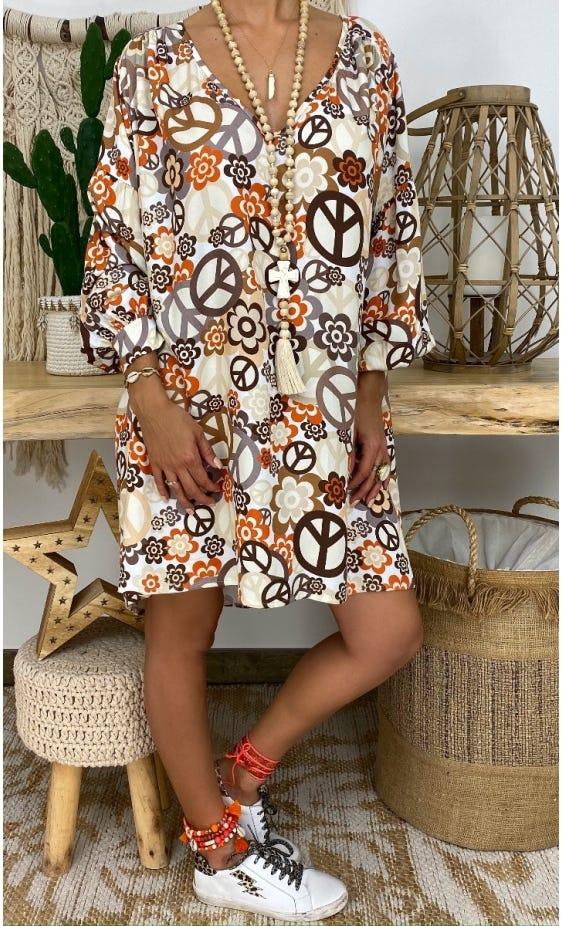 Petite Robe Nina Beige Sixties